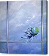 World Breaking Glass Canvas Print