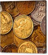World Coins Canvas Print