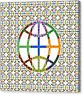 World Globe Earth Travel Graphic Digital Colorful Pattern Signature Art  Navinjoshi Artist Created I Canvas Print