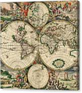 World Map 1689 Canvas Print