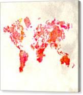 World Map 1h Canvas Print