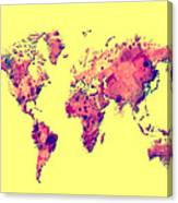 World Map 1t Canvas Print