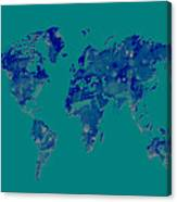 World Map 2b Canvas Print