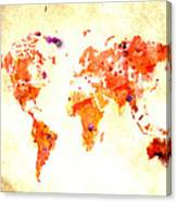 World Map 2d Canvas Print