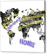 World Map Cool Canvas Print