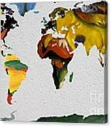 Franz Marc 4 World Map Canvas Print