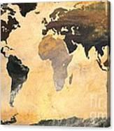 World Map   Turner 1 Canvas Print