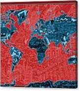 World Map Landmark Collage 11 Canvas Print