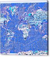 World Map Landmark Collage 8 Canvas Print