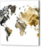 World Map Sandy World Canvas Print