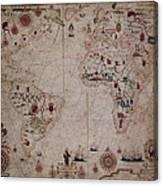 World Nautical Chart 1633 Canvas Print