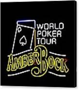 World Poker Tour And Amber Bock Canvas Print