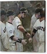 World Series Fist Bump Canvas Print