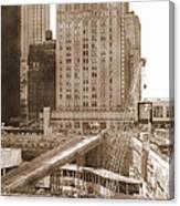 World Trade Center Reconstruction Vintage Canvas Print