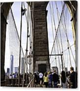 World Trade Center Through The Bridge Canvas Print