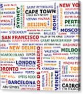 World Travel Canvas Print