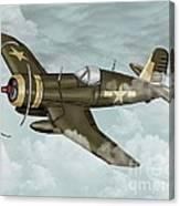 World War 2 Airplane Canvas Print