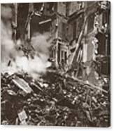 World War I Paris Bombed Canvas Print