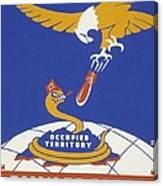 World War II 1939-1945 Anti Japanese Poster Sponsored By The Thirteenth Naval District Canvas Print