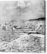 World War II Hiroshima Canvas Print