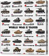 World War II Tanks Canvas Print