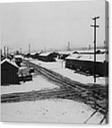 World War II, Winter Storm, Manzanar Canvas Print