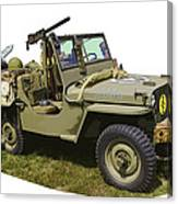 World War Two - Willys - Army Jeep  Canvas Print