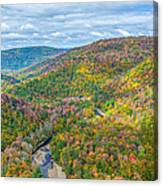 Worlds End State Park Lookout Canvas Print