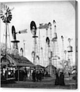 World's Fair Windmills Canvas Print