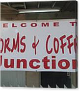Worms And Coffee Junction Canvas Print
