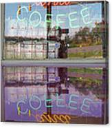 Worms And Coffee Sign Canvas Print