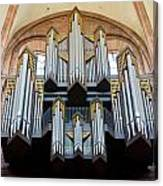 Worms Cathedral Organ Canvas Print