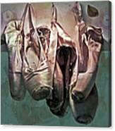 Worn Ballet Slippers Canvas Print