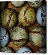 Worn Out Baseballs Canvas Print
