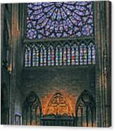 Worship In Notre Dame Canvas Print