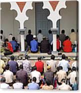 Worshipers At Friday Prayers - Masjid Jame - Friday Mosque - Kuala Lumpur - Malaysia Canvas Print