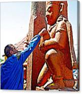 Worshipper At Festival Of Ram Nawami In Kathmandu-nepal    Canvas Print