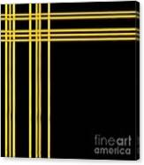 Woven 3d Look Golden Bars Abstract Canvas Print