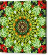 Wreath Kaleidoscope Canvas Print