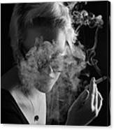 Wreathed In Smoke Canvas Print