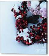 Wreathing Winter Sorrows Canvas Print
