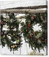 Wreaths For Sale Colonial Williamsburg Canvas Print