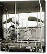 Wright Biplane Engine And Seats Canvas Print