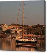 Wrightsville Beach Boat In Harbor Canvas Print