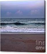 Wrightsville Sunset Waves Canvas Print