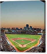 Wrigley Field Night Game Chicago Canvas Print