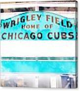 Wrigley Field Sign - X-ray Canvas Print