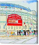 Wrigley Field Sketch Canvas Print