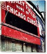 Wrigley Red Canvas Print