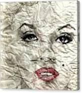 wrinckled Marilyn Canvas Print